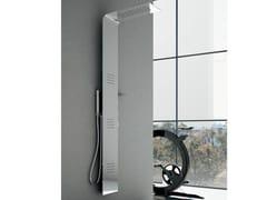 Colonna doccia a parete termostatica in acciaio con soffione LAMA Acciaio - Lama