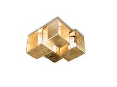 Lampada da soffitto in vetro soffiato DOMINO | Lampada da soffitto - Domino