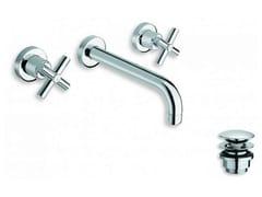 Rubinetto per lavabo a 3 fori a muro EXCLUSIVE | Rubinetto per lavabo a muro - Exclusive