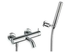 Miscelatore per vasca a 3 fori a muro con doccetta TRICOLORE VERDE | Miscelatore per vasca con doccetta - Tricolore Verde