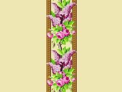 LELIEVRE, TASSINARI & CHATEL - ROSE & LILAS Tessuto da parete da tappezzeria in seta in stile Luigi XVI con motivi floreali