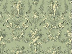 LELIEVRE, TAILLE DOUCE Tessuto damascato in stile Luigi XVI