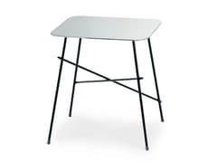 Tavolino quadrato in acciaio inoxWALTER | Tavolino quadrato - MIDJ