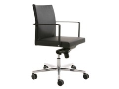 Sedia ufficio operativa ad altezza regolabile a 5 razze con braccioli FEEL | Sedia ufficio operativa a 5 razze - Feel