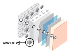 Sistema per isolamento a cappotto ISOKAP VENTILATO - Isokap