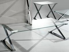Tavolino rettangolare in acciaio e cristallo ICS | Tavolino rettangolare - Ics