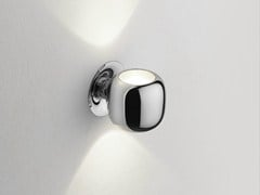 Lampada da parete a luce indiretta in metallo cromatoWALL SYSTEM UP/DOWN - FLOS