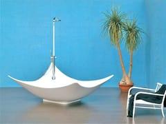 CERAMICA FLAMINIA, LEGGERA Vasca da bagno centro stanza in Pietraluce®