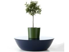 Nola Industrier, SATURNS Panca da giardino in fibra di vetro con fioriera integrata