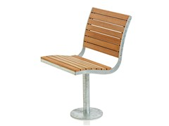 Seduta da esterni in acciaio e legno PARCO | Seduta da esterni in acciaio e legno - Parco