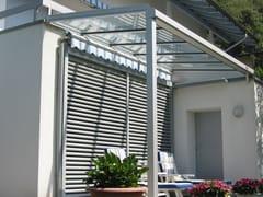 FRUBAU, TD 100 Tettoia in alluminio e vetro