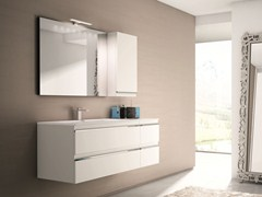 Mobile lavabo con cassetti con specchio MISTRAL COMP 01 - Mistral