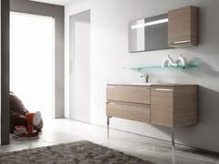 Mobile lavabo con cassetti con specchio MISTRAL | Mobile lavabo - Mistral