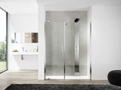 Box doccia in nicchia con porta a battente e lato fisso SLIM SLPL+SLFL - Slim