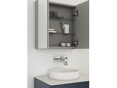 Specchio con contenitore per bagno STRATO | Specchio con contenitore - Strato