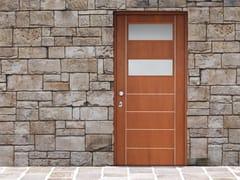 Porta d'ingresso blindata in ciliegio con pannelli in vetro JUNIOR  - 16.5040 J16 - Professional