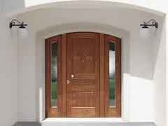 Porta d'ingresso blindata in noce ad arco SUPERIOR - 16.5066 M16 - Professional