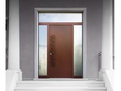 Porta d'ingresso blindata in acciaio Corten™ con pannelli in vetro ELITE - 16.5090 M60Vip - Professional