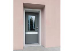 Porta d'ingresso blindata laccata in okoumé con pannelli in vetro SUPERIOR - 16.5093 M16 - Professional