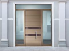 Porta d'ingresso blindata laccata in okoumé con pannelli in vetro SUPERIOR - 16.5088 M16 - Professional