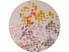 Tappeto rotondo in velluto a motivi geometrici PROFUMO DI LAVANDA | Tappeto rotondo -