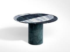 Tavolino di servizio rotondo in marmo PROIEZIONI   Tavolino rotondo -