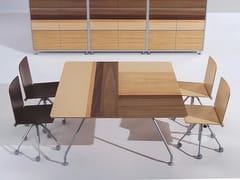 Tavolo da riunione quadrato in legno naturale PROSPERO   Tavolo da riunione - Prospero