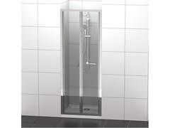 Ideal Standard, CONNECT 2 - PS Box doccia a nicchia in vetro temperato con porta a soffietto