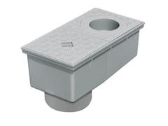 Pozzetto pluviale sifonato con innesto tubi tondiPSPV160 - FIRST CORPORATION
