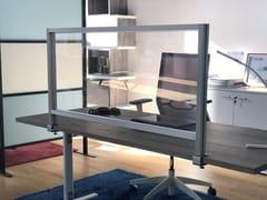 Pannello divisorio da scrivania in policarbonatoPTA-145 - STUDIO T