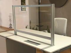 Pannello divisorio da scrivania con staffa lungaPTA3-145 - STUDIO T