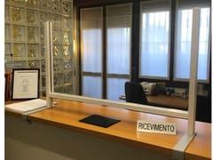 Pannello divisorio da scrivania con staffa lungaPTAL - STUDIO T