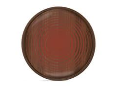 Vassoio rotondo in legno e vetroPUMPKIN CIRCLES - ROUND M - ETHNICRAFT