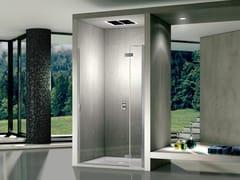 Cabina doccia in acciaio inox e vetro con porta a battentePURA R 5000 | Box doccia - DUKA