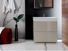 Mobile lavabo in legno con cassetti PURE | Mobile lavabo singolo - Pure