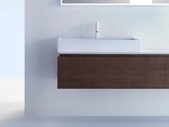 Mobile lavabo sospeso in legno con cassetti PURE | Mobile lavabo sospeso - Pure