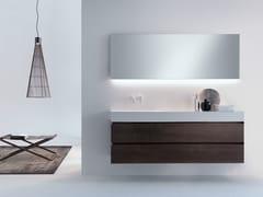 Mobile lavabo sospeso in legno con cassetti PURE | Mobile lavabo in legno - Pure