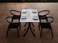 Tavolo da giardino con base in alluminio e piano in HPLPUSH | Tavolo rettangolare - MYYOUR