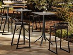 Tavolo da giardino alto con base in alluminio e piano in HPLPUSH | Tavolo alto - MYYOUR