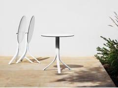 Tavolo da giardino con base in alluminio e piano in HPLPUSH | Tavolo rotondo - MYYOUR
