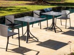 Tavolo da giardino con base in alluminio e piano in HPLPUSH | Tavolo quadrato - MYYOUR