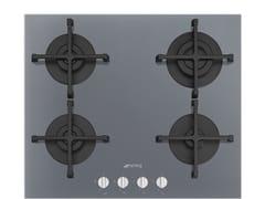 Piano cottura a gas da incasso semi filo top in vetroPV264S - SMEG