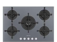 Piano cottura a gas da incasso semi filo top in vetroPV275S - SMEG