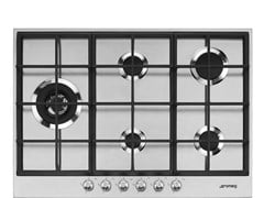 Piano cottura a gas da incasso in acciaio inoxPX175L - SMEG