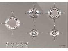 Piano cottura a gas in acciaio inoxPXL675L - SMEG