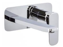 Miscelatore per lavabo a muro con piastra QUAD F3741LX5 | Miscelatore per lavabo - Quad