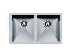 Lavello a 2 vasche sottotop in acciaio inoxQUADRA 2V.34X40 S/TOP INOX - FOSTER