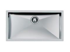 Lavello a una vasca sottotop in acciaio inoxQUADRA rag.S/TOP    INOX - FOSTER