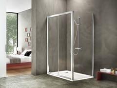Duka, STILA 2000 Box doccia angolare rettangolare in alluminio e vetro