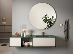 Mobile lavabo componibile sospeso con lavabo integratoQUADRA | Mobile lavabo - ARTELINEA